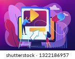 graphic designers at computer... | Shutterstock .eps vector #1322186957