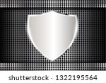 silver metallic shiny shield...   Shutterstock .eps vector #1322195564