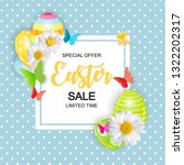 happy easter cute sale poster ... | Shutterstock .eps vector #1322202317