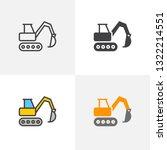 excavator  crawler digger icon. ... | Shutterstock .eps vector #1322214551