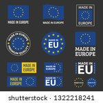 made in europe icon set ... | Shutterstock .eps vector #1322218241