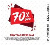 70  off 70 percent off 70 ... | Shutterstock .eps vector #1322220887