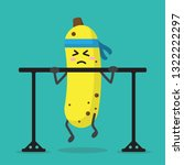 cartoon banana health strong... | Shutterstock .eps vector #1322222297