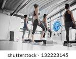rear view of women doing... | Shutterstock . vector #132223145