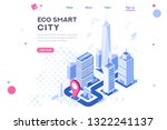 web city smart eco system for... | Shutterstock .eps vector #1322241137