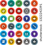 white solid icon set  graph... | Shutterstock .eps vector #1322242391