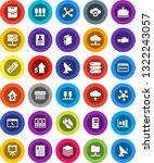 white solid icon set ... | Shutterstock .eps vector #1322243057