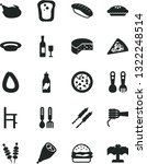 solid black vector icon set   a ... | Shutterstock .eps vector #1322248514