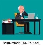 businessman talking on the... | Shutterstock .eps vector #1322274521