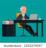 businessman working at the... | Shutterstock .eps vector #1322274557