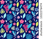 summer tropical pattern with... | Shutterstock .eps vector #1322276474