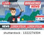 breaking news reporter... | Shutterstock .eps vector #1322276504
