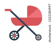 baby buggy flat icon.you can be ...