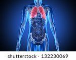 digital blue human with... | Shutterstock . vector #132230069
