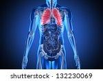 digital blue human with... | Shutterstock . vector #132230069