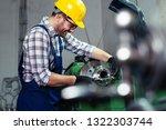 factory worker measure detail... | Shutterstock . vector #1322303744