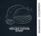 grilled chicken and meat... | Shutterstock .eps vector #1322309054