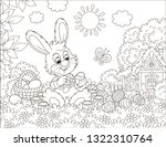 little bunny painting easter... | Shutterstock .eps vector #1322310764
