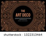 art deco vintage linear thin... | Shutterstock .eps vector #1322313464