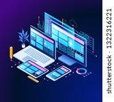 building mobile interface on... | Shutterstock .eps vector #1322316221