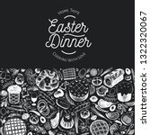 easter dinner banner template.... | Shutterstock .eps vector #1322320067