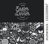 easter dinner banner template.... | Shutterstock .eps vector #1322320067