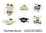 congrats graduates  class of... | Shutterstock .eps vector #1322321801
