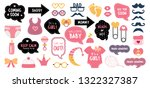 baby shower photo booth props.... | Shutterstock . vector #1322327387