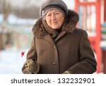 winter portrait of the old woman | Shutterstock . vector #132232901