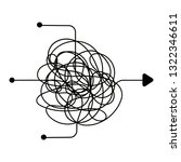 confused process  chaos line...   Shutterstock .eps vector #1322346611