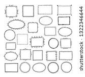 sketch picture frames. doodle... | Shutterstock .eps vector #1322346644
