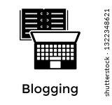blogging solid icon design ... | Shutterstock .eps vector #1322348621