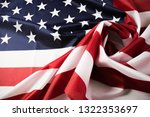 american flag waving background.... | Shutterstock . vector #1322353697