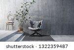 comfortable armchair near the... | Shutterstock . vector #1322359487