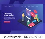 concept on line learning and... | Shutterstock .eps vector #1322367284