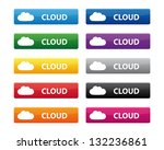 cloud buttons. vector available. | Shutterstock . vector #132236861