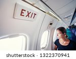 safety travel. emergency exit.... | Shutterstock . vector #1322370941