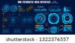 dashboard blue display virtual... | Shutterstock .eps vector #1322376557