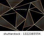 abstract luxury gold polygonal... | Shutterstock .eps vector #1322385554