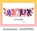 happy wedding dancing ceremony... | Shutterstock .eps vector #1322395901