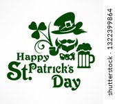 saint patrick day poster with... | Shutterstock .eps vector #1322399864