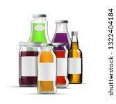 fresh organic juice glass... | Shutterstock .eps vector #1322404184