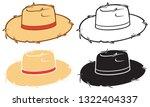 straw hat icons vector set | Shutterstock .eps vector #1322404337