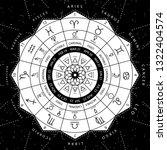 zodiacal circle for studing... | Shutterstock .eps vector #1322404574