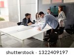 group of architects and... | Shutterstock . vector #1322409197