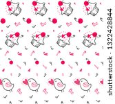 pattern of love hand drawn... | Shutterstock .eps vector #1322428844