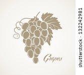 grapes | Shutterstock .eps vector #132242981