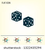 cubes for the game vector icon. | Shutterstock .eps vector #1322435294