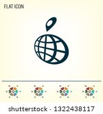 pin on globe icon | Shutterstock .eps vector #1322438117