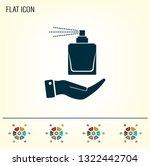 perfume  eau de toilette ... | Shutterstock .eps vector #1322442704